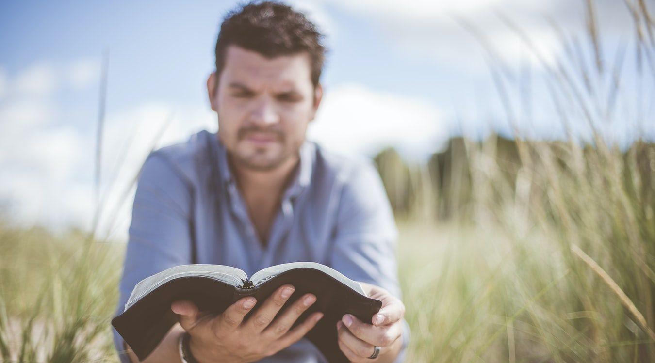 Biblical Counseling - man reading a Bible